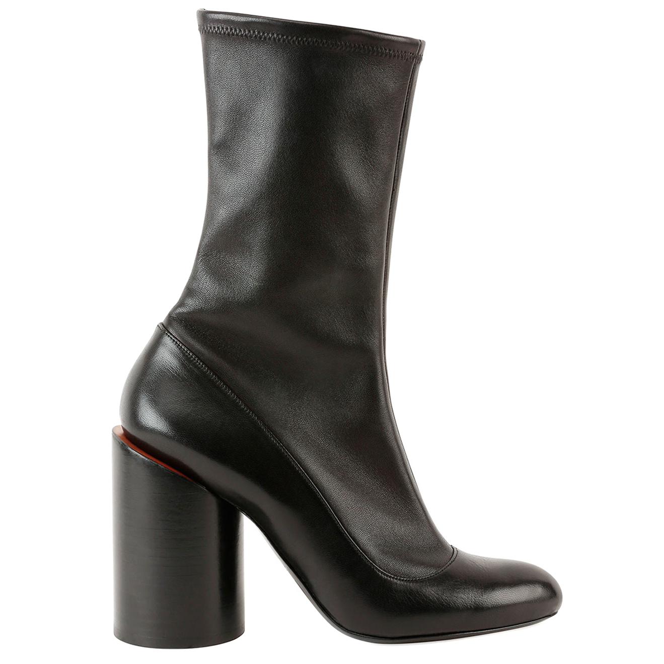Givenchy Cylinder-Heel Black Leather Boots