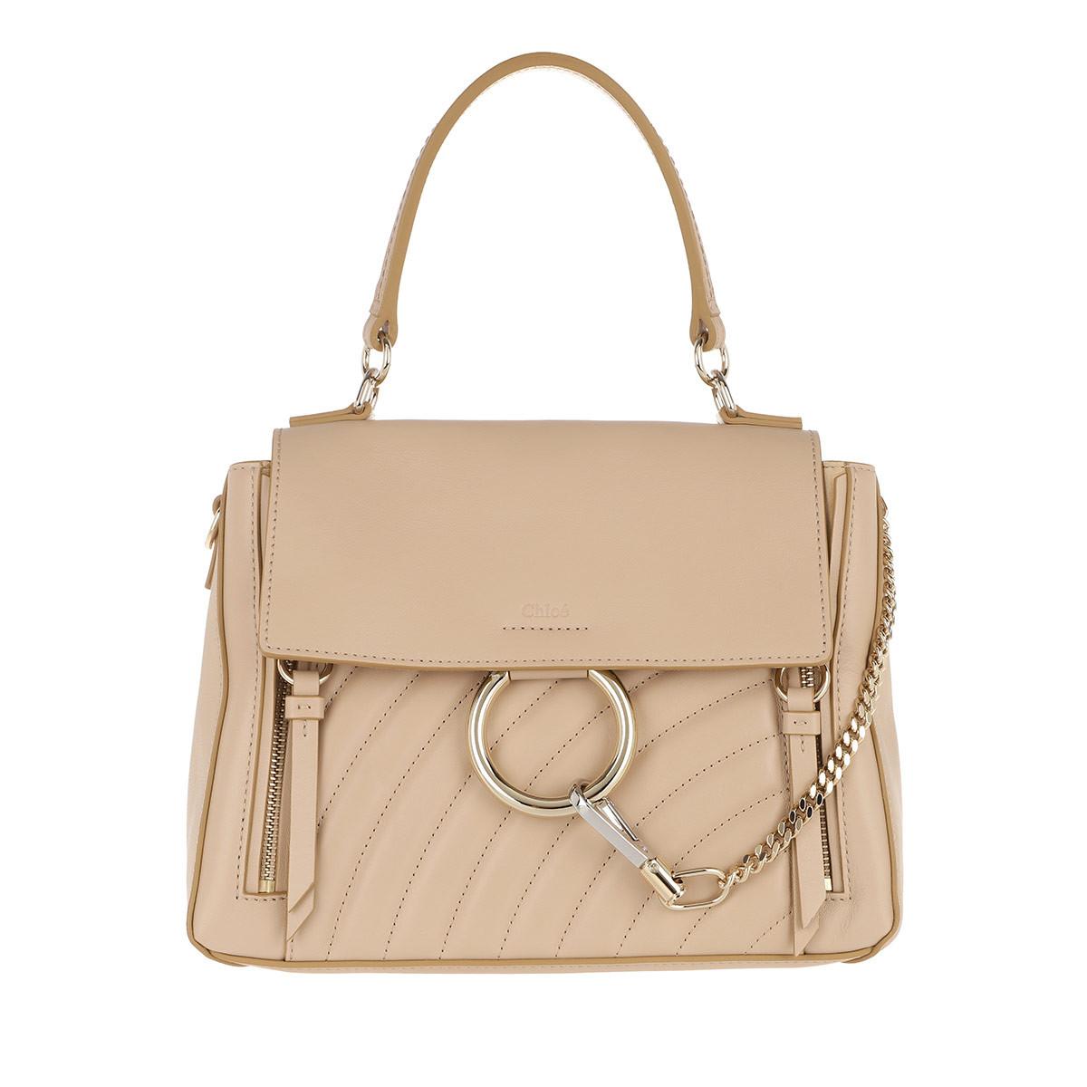 Chloe Faye Day Bag Small Pearl Beige