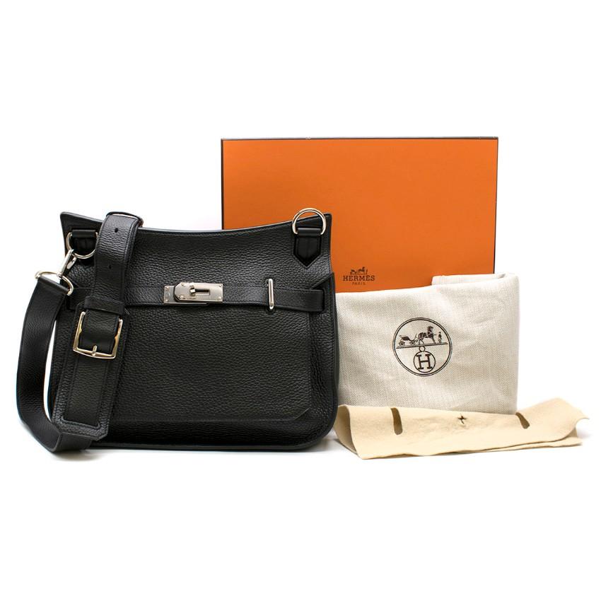 Hermes Black Togo Leather Jypsiere 34 Bag