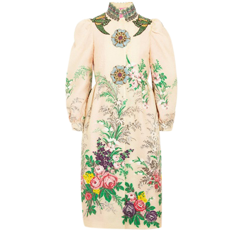 Gucci crystal fairytale runway coat