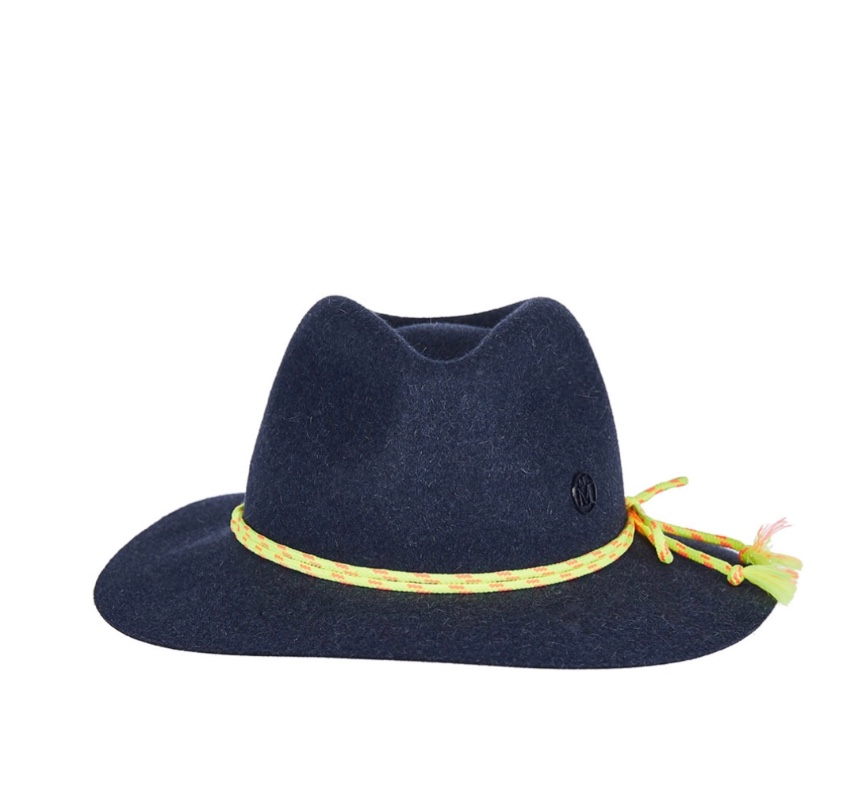 Mason Michel rabbit fur felt  fedora Hat