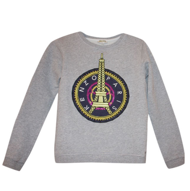 578b263163b8 Kenzo Girls Grey Paris Sweatshirt   HEWI London