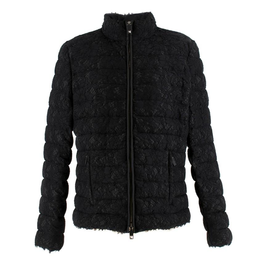 Valentino Black Lace Short Puffer Jacket
