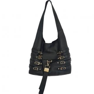 Jimmy Chew black leather shoulder bag