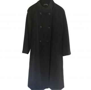 Max Mara black wool coat