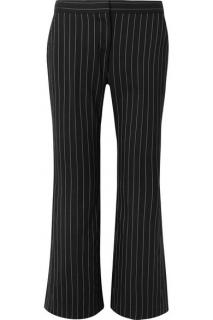 Alexander McQueen Pinstripe Flared Trousers, Size 42, New with Tags