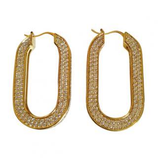 Celine Crystal-Hoop Earrings