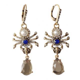 Alexander McQueen Spider-drop earrings
