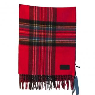 Belstaff Signature Check Double-Faced Cashmere Scarf