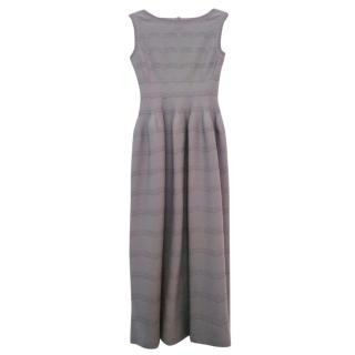 Alaia sleeveless grey dress