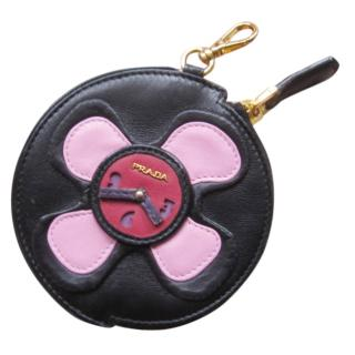 Prada Leather Clock Coin Purse