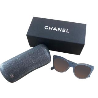 Chanel gradient-blue sunglasses