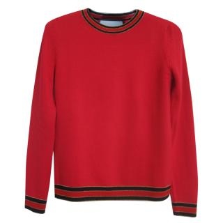 Gucci Red Wool Sweater
