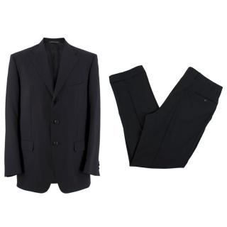 Corneliani Black Wool Two Piece Suit
