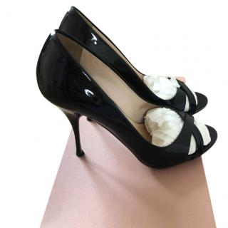 Miu Miu Black Patent Leather Heels