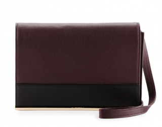See By Chloe Amy Perfect Plum Leather Clutch/Shoulder Bag
