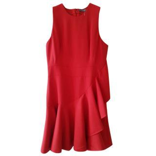 Alexander McQueen Red Sleeveless Dress