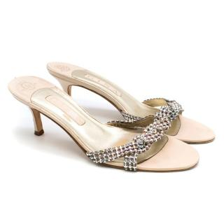 Gina embellished mid-heel sandals