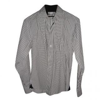 Ungaro mens black & white striped shirt