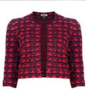 Issa Cropped Wool Blend Jacket