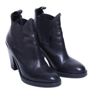 Acne Block Heel Ankle Boots