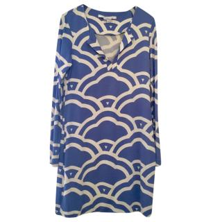 Diane von Furstenberg long-sleeved silk tunic dress