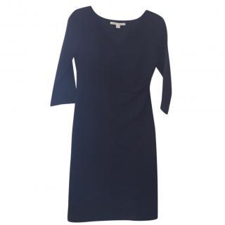 Diane von Furstenberg V-neck navy dress US 8