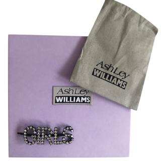 Ashley Williams Crystal 'Girls' Hair Clip
