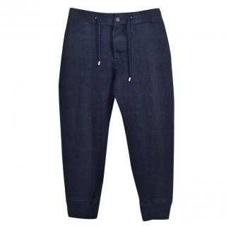 Etro wool and cotton-blend cropper trousers