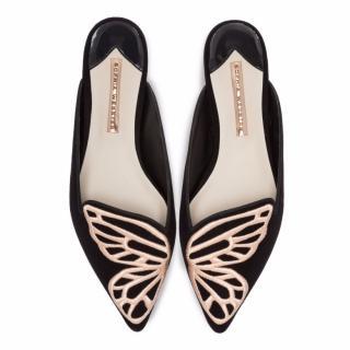 Sophia Webster Bibi Butterfly suede flats