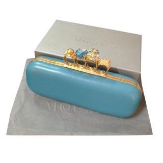 Alexander McQueen turquoise embellished Clutch