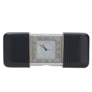 Tiffany & Co. Leather-Encased Travel Clock
