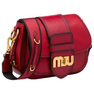 Miu Miu Madras Leather Logo Bag