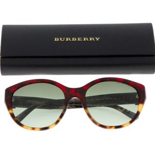 Burberry Tortoiseshell Round-Frame Butterfly Sunglasses