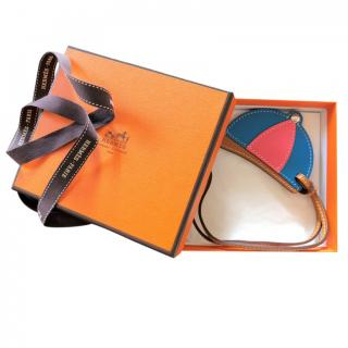 Hermes leather Paddock Bombe charm