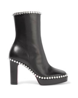 Gucci Olympia crystal-embellished leather ankle boots