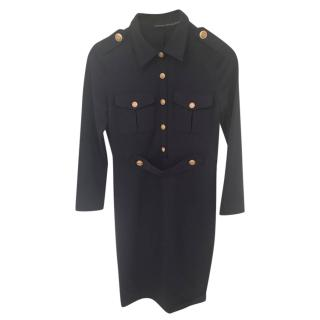 Victoria by Victoria Beckham point-collar military dress