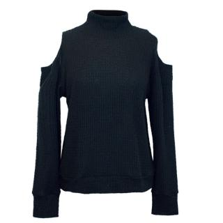 Lna Black Turtle Neck Jumper