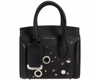 Alexander McQueen Heroine 21 Mini Leather Satchel Bag