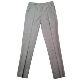 Ami straight-leg grey trousers