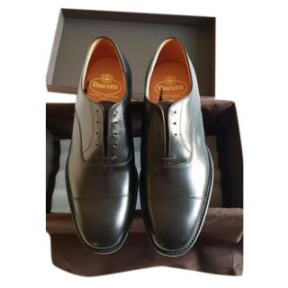 Church's black leather derby shoes