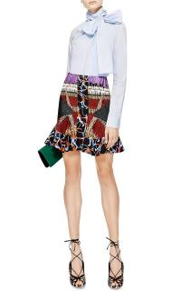 Peter Pilotto Flared-Hem Mini Skirt