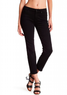 7 For All Mankind Karah black stretch-denim cropped jeans