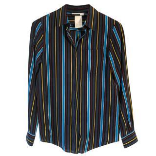 Sportmax Code multicoloured-striped silk blouse