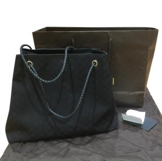 Gucci Monogram Black Tote with Original Packaging