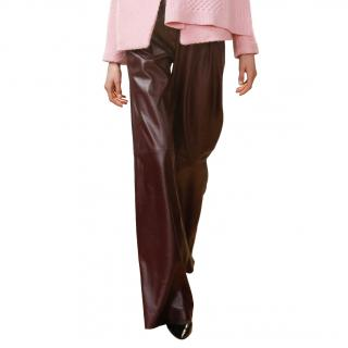 Eudon Choi High Waisted Leather Trousers