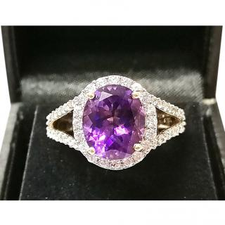 Bespoke Amethyst & Sapphire Cluster Ring