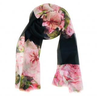 Dolce & Gabbana roses print scarf