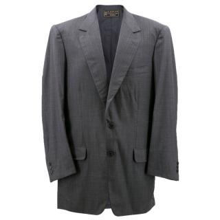 Lanvin Grey and Red Pinstripe Blazer