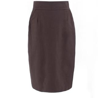 Escada Cotton-blend Twill Pencil Skirt